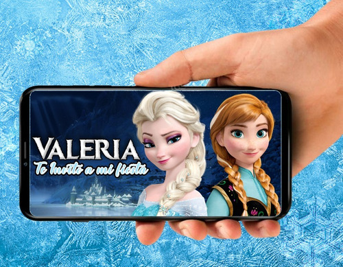tarjeta de invitacion digital video personalizada de frozen
