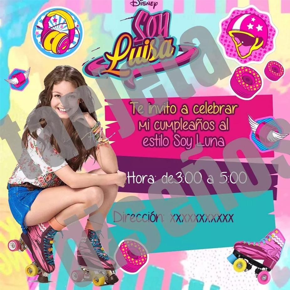 Tarjeta De Invitación Soy Luna Personalizada Digital