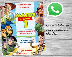 Tarjeta De Invitación Toy Story Cumpleaños