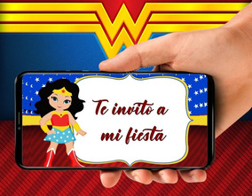 Tarjeta De Invitacion Video De La Mujer Maravilla