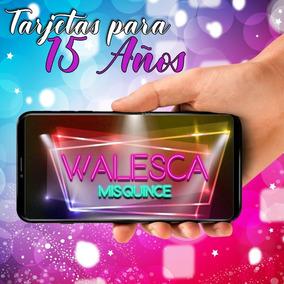 Tarjeta De Invitacion Virtual Video De 15 Años Neon