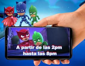 Tarjeta De Invitacion Virtual Video De Heroes En Pijama