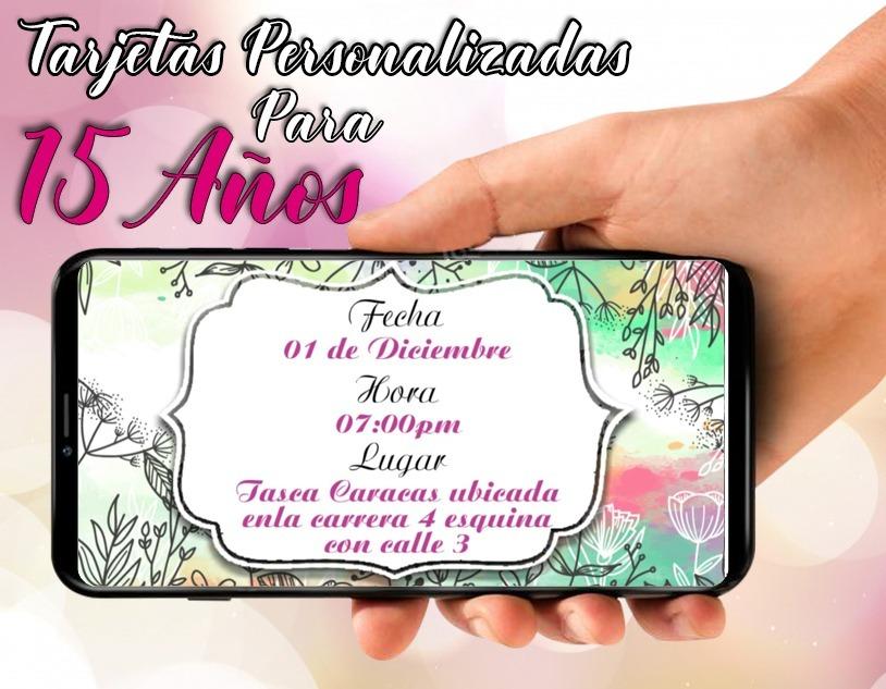 Tarjeta De Invitacion Virtual Video Para 15 Años