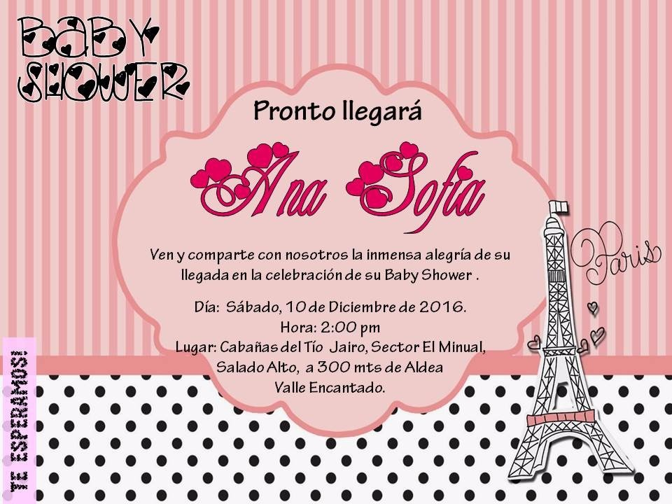 Tarjeta De Invitaciones Digitales Personalizadas Paris Bs 2 000,00 en Mercado Libre