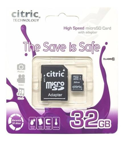 tarjeta de memoria citric micro sd 32gb