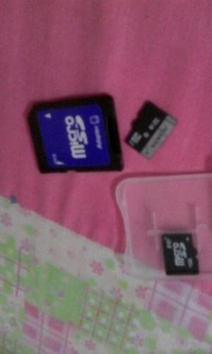 tarjeta de memoria de 32gb y 1gb y r4
