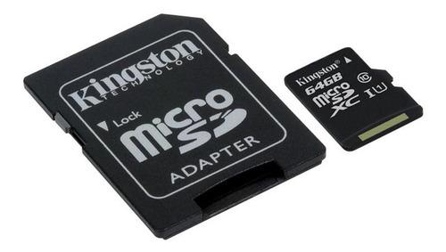 tarjeta de memoria kingston 64gb clase 10    kingston