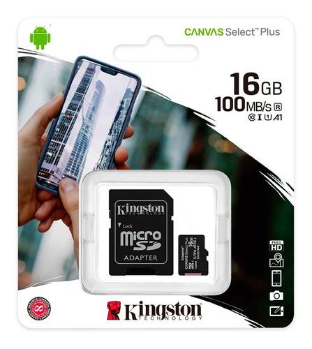 tarjeta de memoria kingston sdcs/sp 16gb clase10 (castelar)