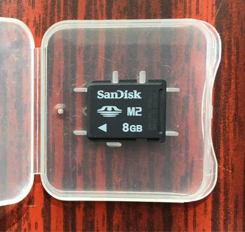 tarjeta de memoria m2 de 8 gb más otra de 1 gb
