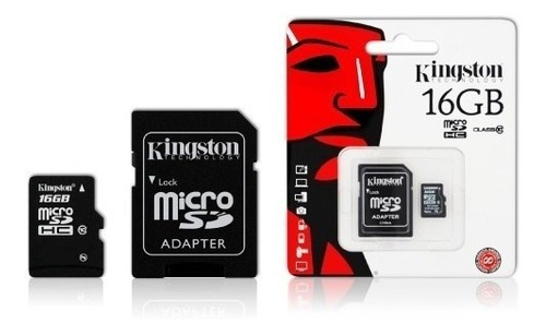 tarjeta de memoria micro sd 16gb clase 10 kingston