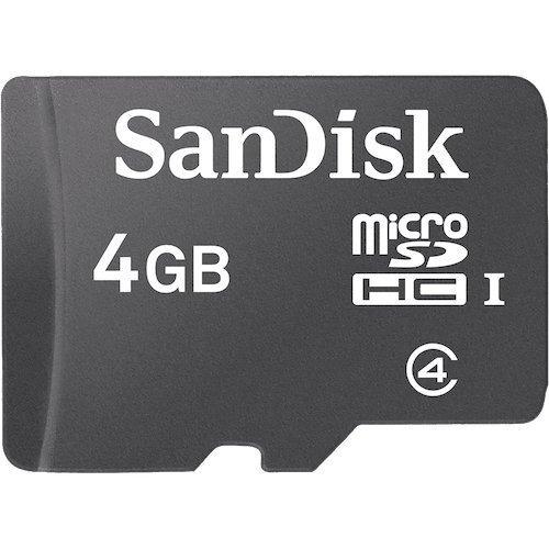 tarjeta de memoria sandisk micro sdhc de 4gb sdsdqm-004g
