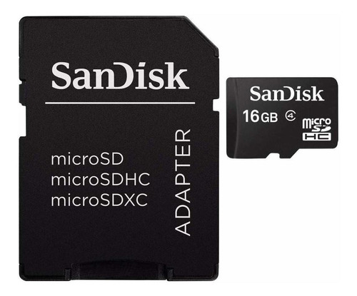 tarjeta de memoria sandisk sdsdqm-016g-b35a con adaptador sd 16gb