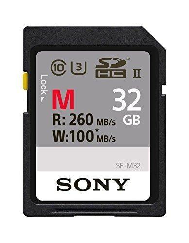 tarjeta de memoria sony 32gb, uhs-ii sd, cl10, u3, max r260m