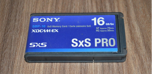 tarjeta de memoria sony pro sbp-16 16gb sxs