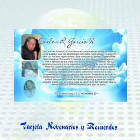 Tarjeta De Novenarios Recuerdo Fallecido 12 Tarjetas