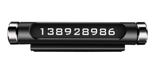 tarjeta de número de teléfono de estacionamiento temporal, g
