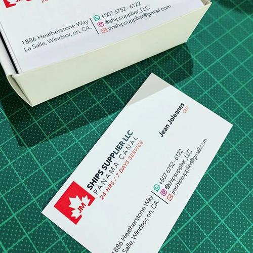 tarjeta de presentacion glase de 300gr