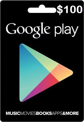 tarjeta de recarga 100usd para google play store