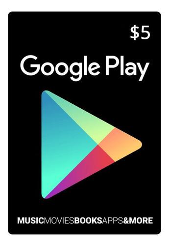 tarjeta de recarga $5 usd para google play store- free fire