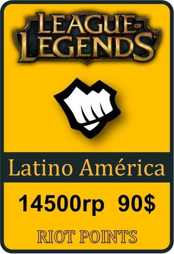 tarjeta de recarga de league of legends - 14500 riot points