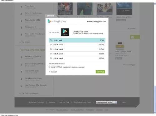 tarjeta de recarga para google play store $100