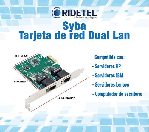 tarjeta de red 2 puertos gigabit ethernet con garantía