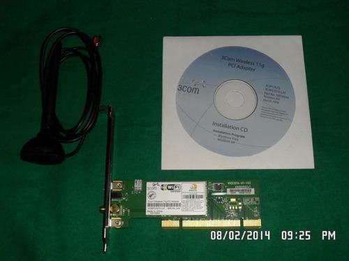 tarjeta de red 3com wireless ·crpcig75-lat pci oferta