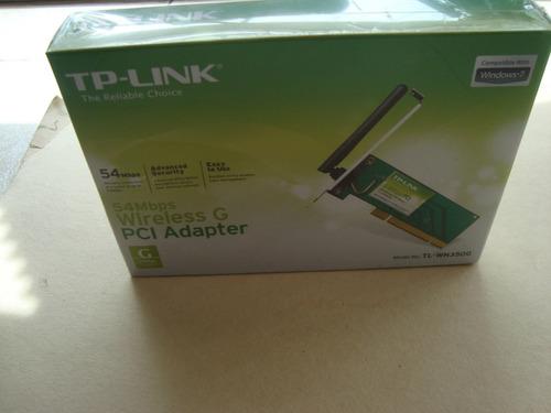tarjeta  de red 54mbps wireless tl-wn350g pci adapt sellada