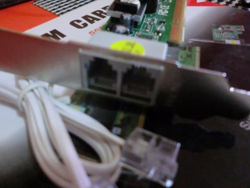 tarjeta de red fax modem