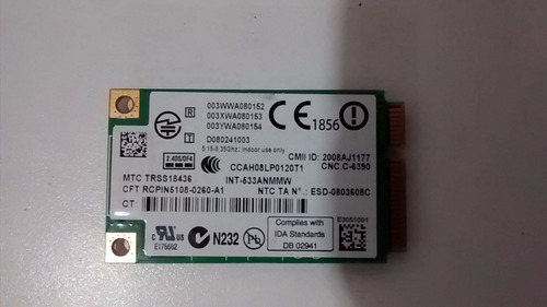 tarjeta de red inalambrica para laptop lenovo t400