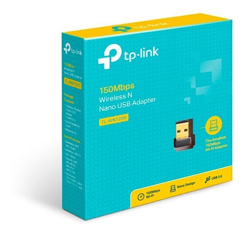 tarjeta de red inalámbrica wifi usb tp-link tl-wn725n 150mbps para pc, laptop, mac y linux