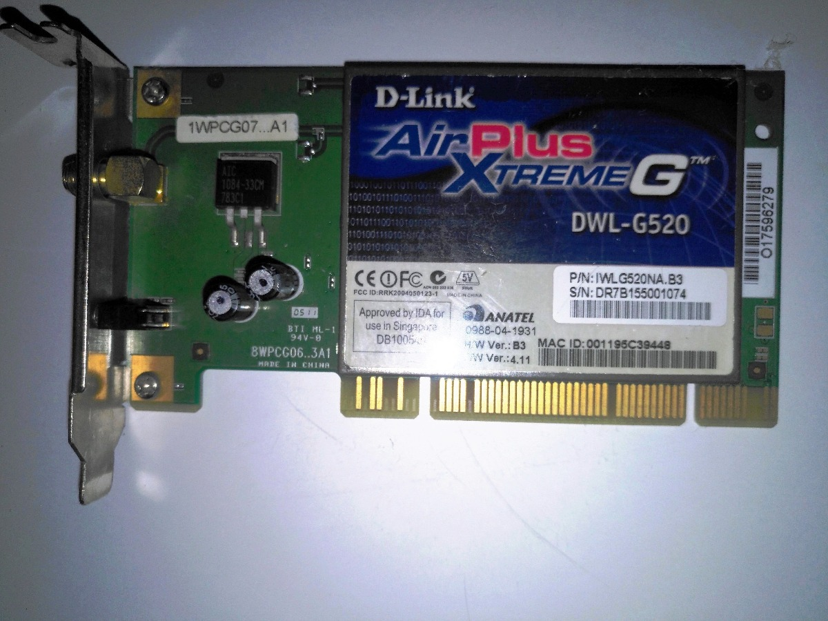 D-LINK DWL-G520 AIRPLUS XTREME G DRIVER WINDOWS XP
