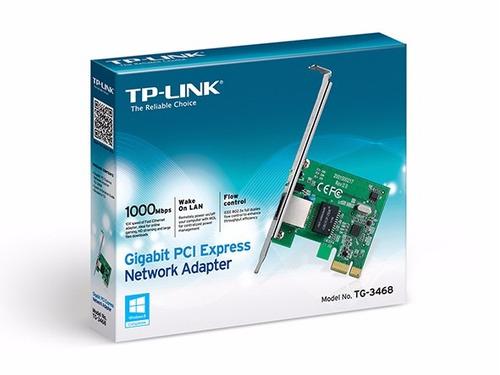 tarjeta de red pci express tp-link, 10/100/1000mbps