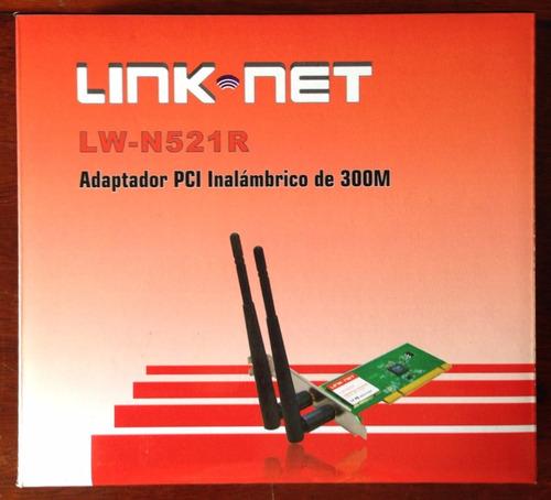 tarjeta de red pci link net 300mbps lw-n521r (somos tienda)