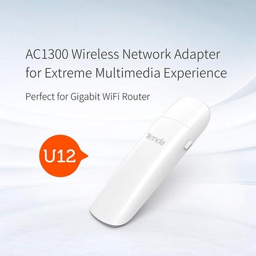 tarjeta de red usb 3.0 antena wifi ac1300 mbps laptop pc u12
