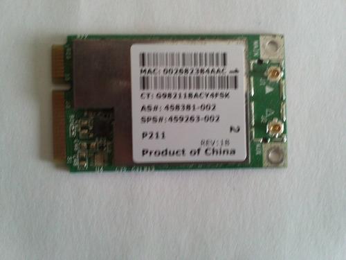 tarjeta de red wi-fi compaq cq40 daa