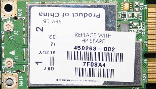 tarjeta de red wifi minipci para laptop marca broadcom usada