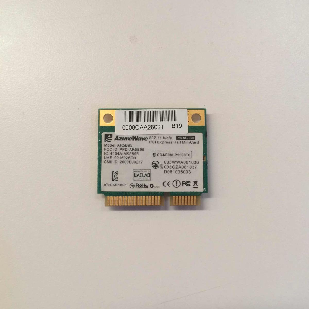 Tarjeta De Red Wifi Para Laptop Azurewave Ar5b125 - Bs  75 000,00