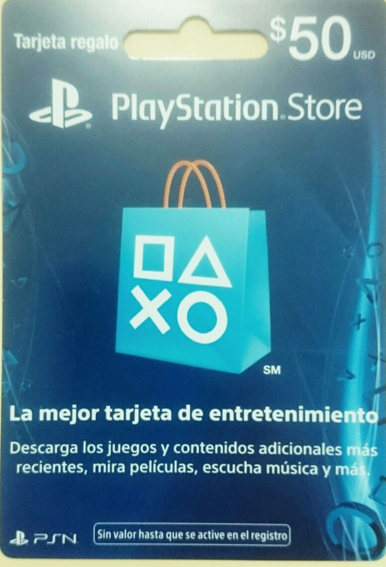 Tarjeta De Regalo Playstation Mexicana Store Gift Card 50