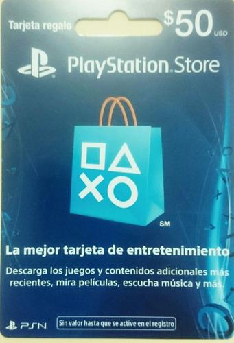 tarjeta de regalo playstation mexicana store gift card  $50