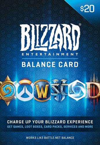 tarjeta de saldo para battlenet 20 - wow diablo overwatch