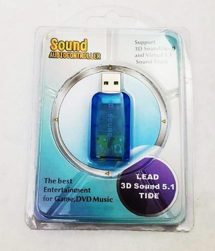 tarjeta de sonido 5.1 usb sound 3d adapter tienda