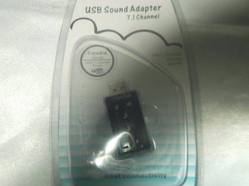 tarjeta de sonido 7.1 3d usb tipo pendrive control equiprog