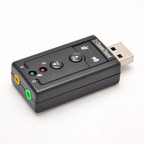 tarjeta de sonido 7.1 usb 2.0 virtual 3d tipo pendrive