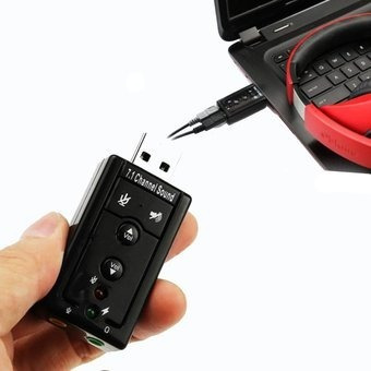 tarjeta de sonido 7.1 usb audio 3d externo en blister