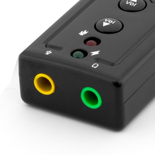 tarjeta de sonido audio usb 2.0 7.1 3d virtual tienda fisica