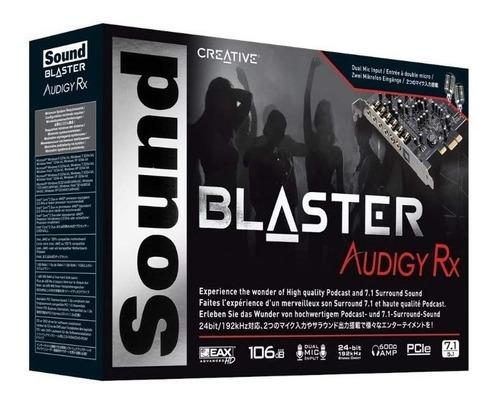 tarjeta de sonido creative sound blaster audigy pcie rx 7.1