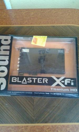 tarjeta de sonido creative x-fi titanium hd