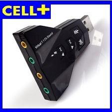 tarjeta de sonido externa 2.0 virtual dj 7.1 doble salida