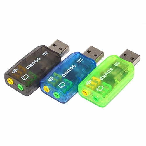 tarjeta de sonido externa usb 2.0 p/audifono y microfono
